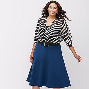 Lane Bryant Muse zebra print shirt plus sz 26/28